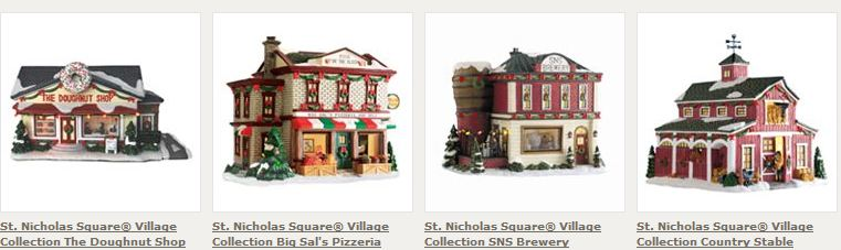 you can also snag village pieces ans manger scenes for 50 off
