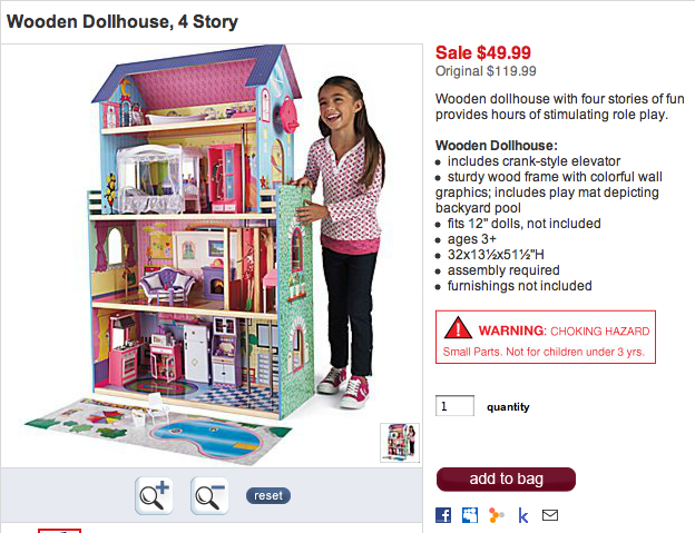 Hot 4 Story Wooden Dollhouse Complete With An Elevator Only 49 99