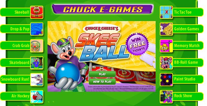 chuck e cheese s free online games