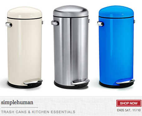One King S Lane Awesome Deal On High Quality Simplehuman Trash Cans Kitchen Essentialore