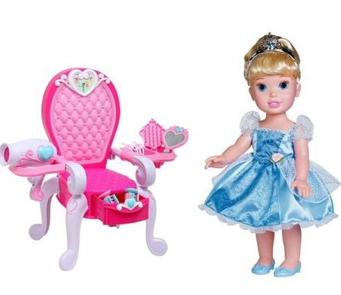 Hot Disney Cinderella Doll Plus Royal Throne 7