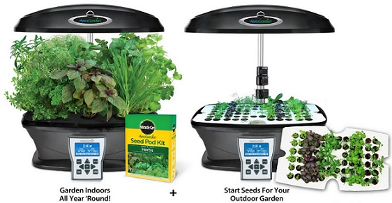 Aerogarden Indoor Garden Miracle gro aerogarden ultra indoor garden with gourmet herb seed aerogarden indoor garden with gourmet herb seed pod kit plus bonus seed starter system for only 16490 thats 40 off free shipping workwithnaturefo