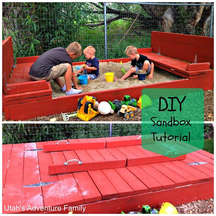 Diy Sandbox With Bench Seats